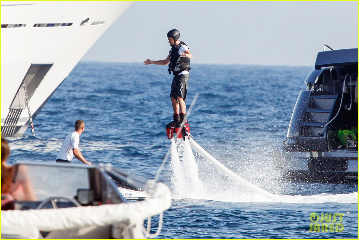 leonardo dicaprio flyboards in the air during ibiza vacation 12