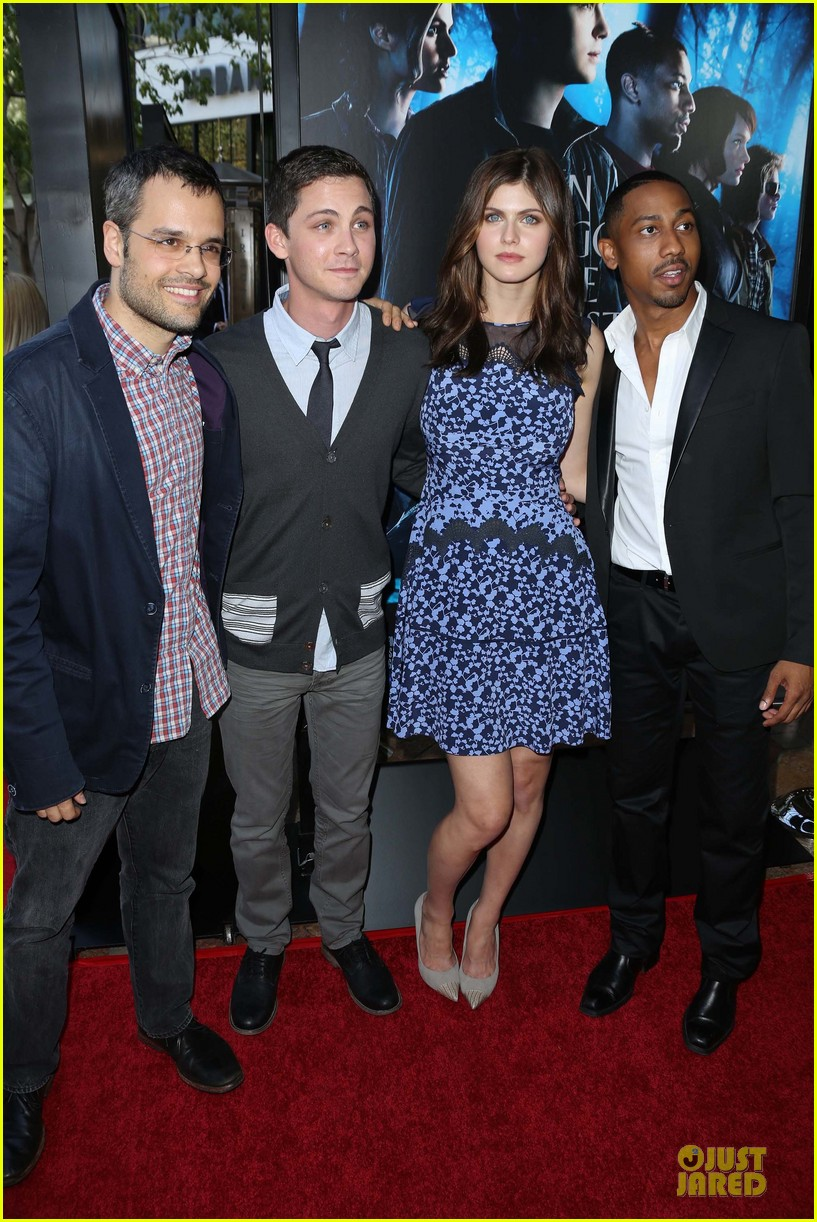 logan lerman alexandra daddario percy jackson la screening 032921305