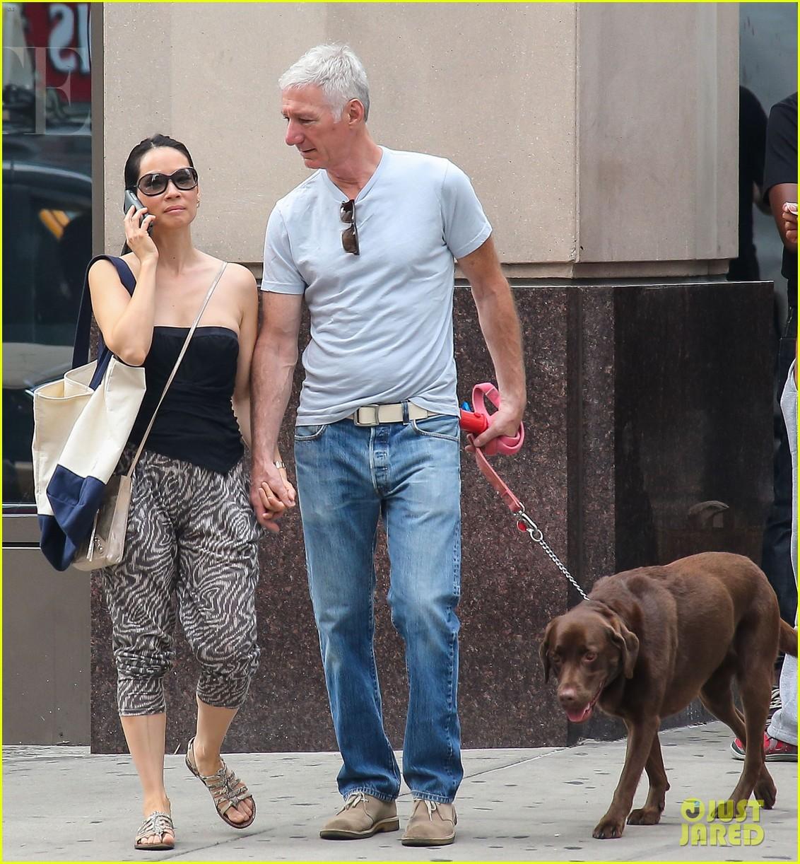 lucy liu new boyfriend hold hands in new york city 062932376