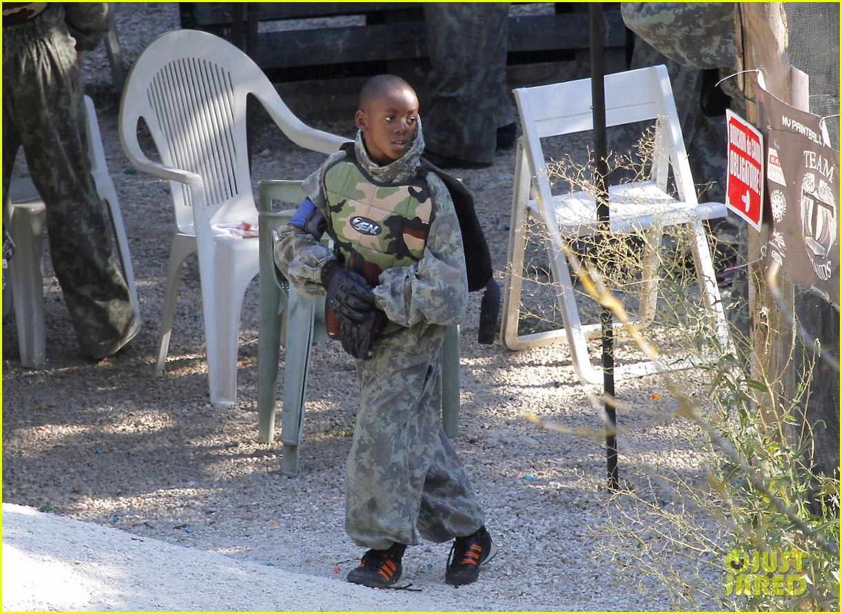 madonna paintball with shirtless brahim zaibat the kids 112928398