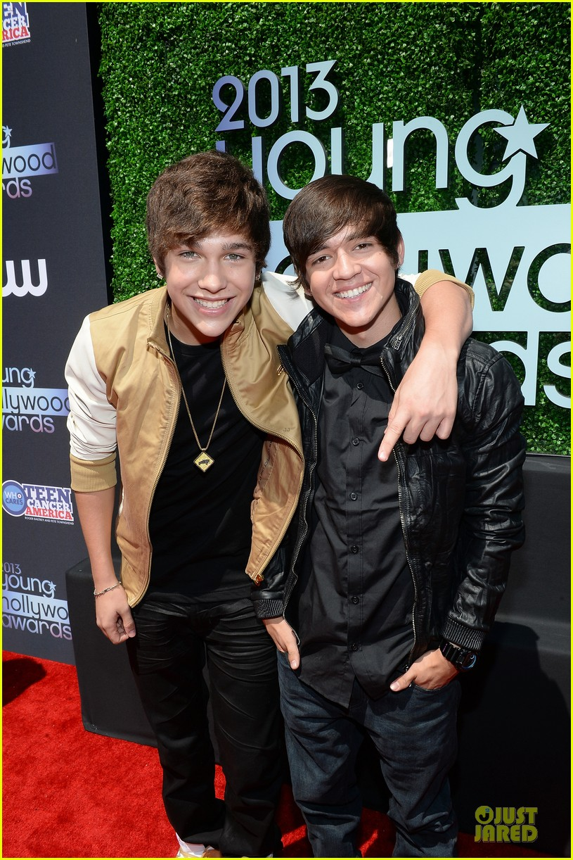austin mahone becky g young hollywood awards 2013 red carpet 05