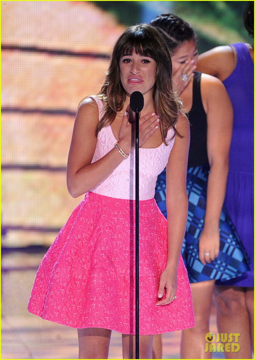 lea michele teen choice awards speech video watch now 062928275