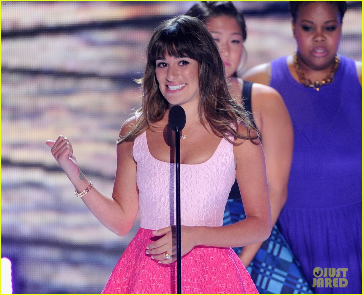 lea michele teen choice awards speech video watch now 122928281