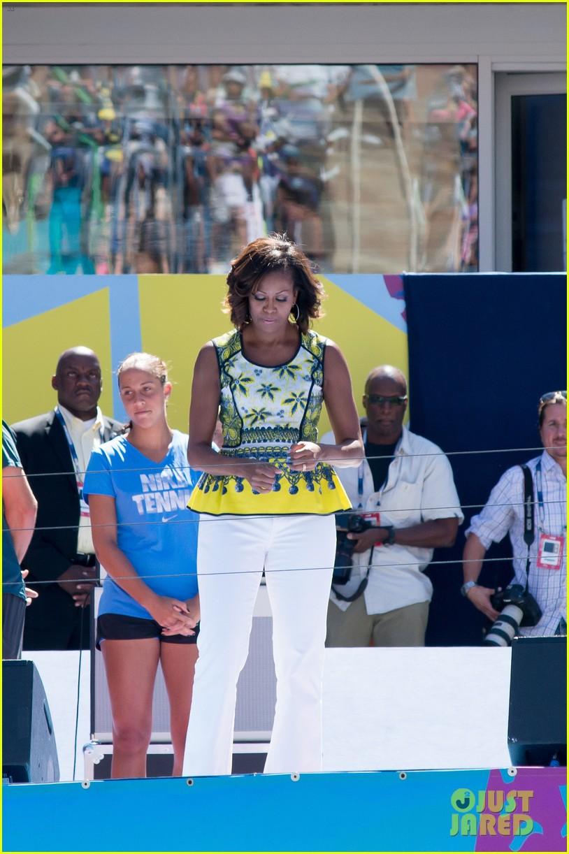 michelle obama ariana grande arthur ashe kids day 2013 272937080