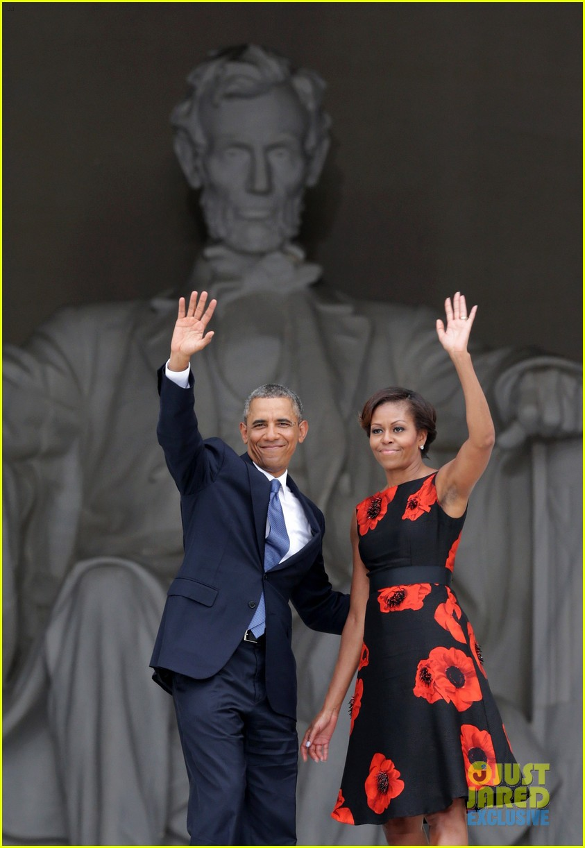 barack michelle obama mark 50 years of i have a dream 05