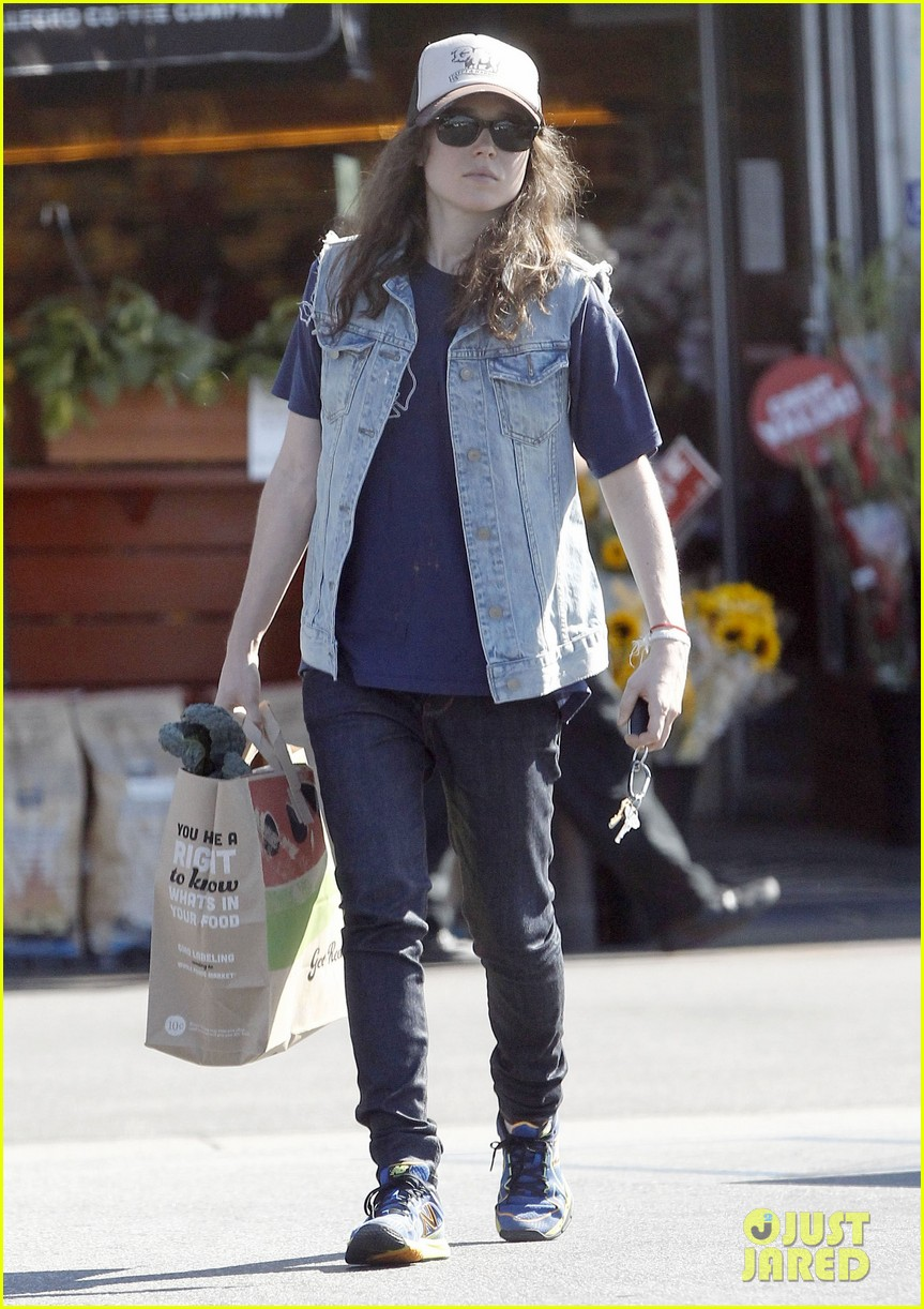 ellen page grocery shops after caution tape day 21