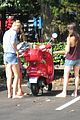 gwyneth paltrow apple moped to coffee shop 11