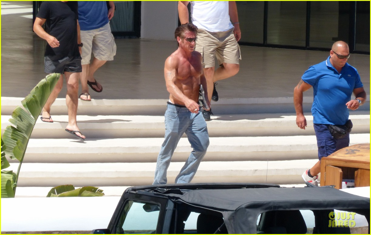 sean penn shirtless ripped on ibiza vacation 032928329