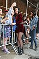 katy perry roars in new york city for z100 visit 25