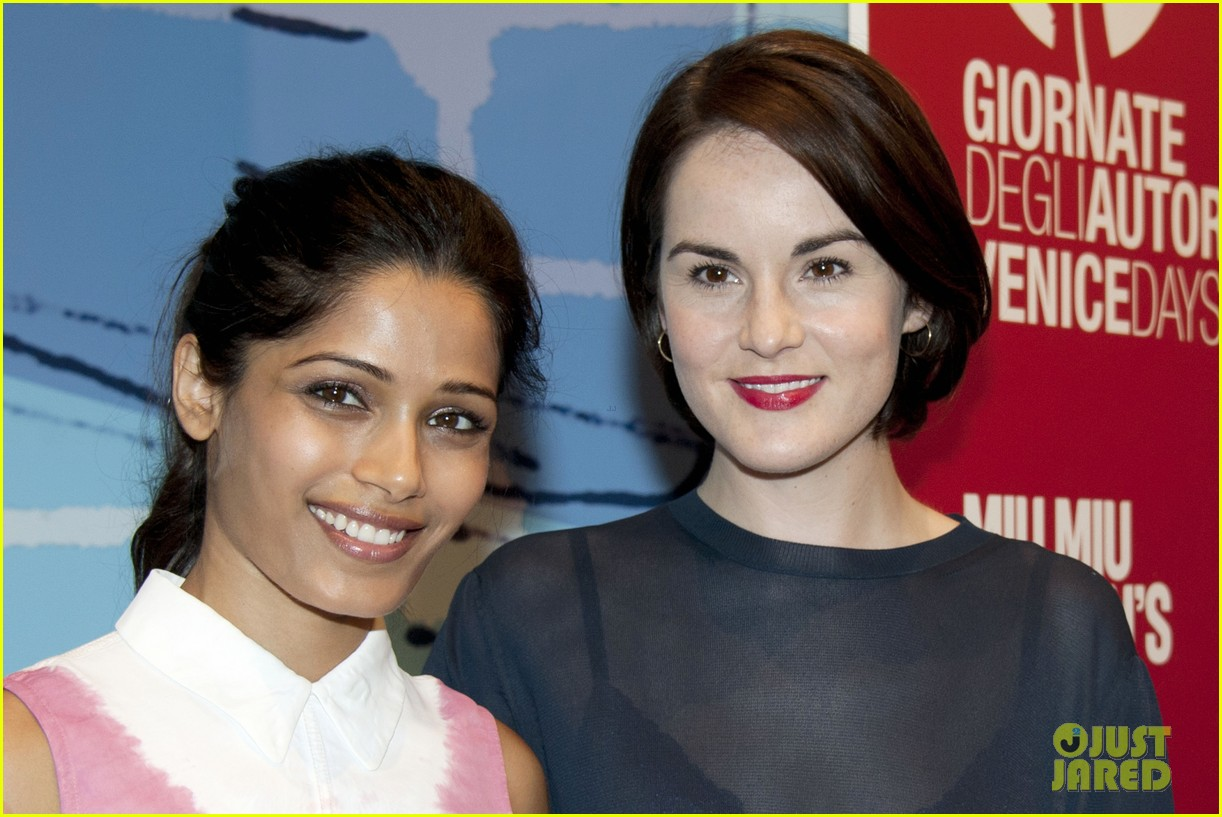 frieda pinto michelle dockery miu mius womens tales talks 122941161