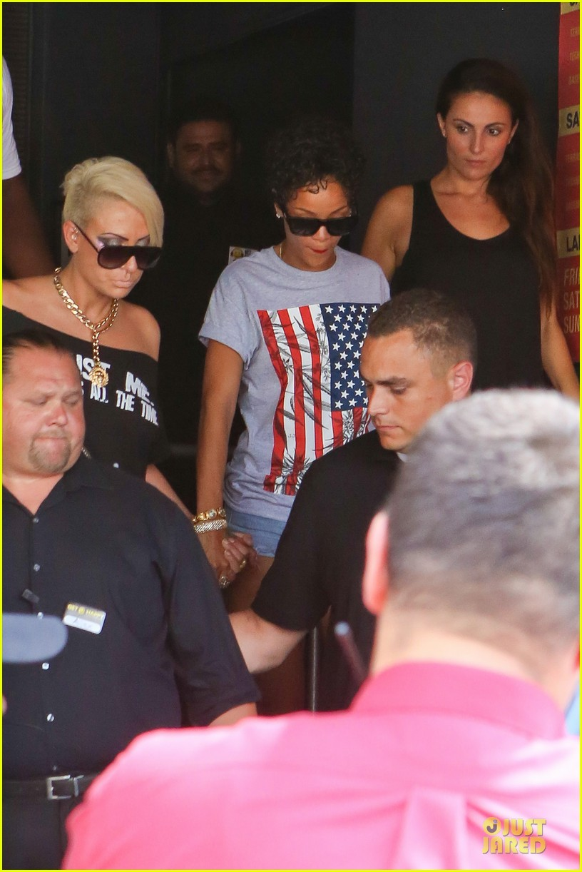 rihanna sports american flag for miami outing 072928343