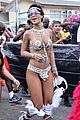 rihanna wears next to nothing for barbados carnival parade 05