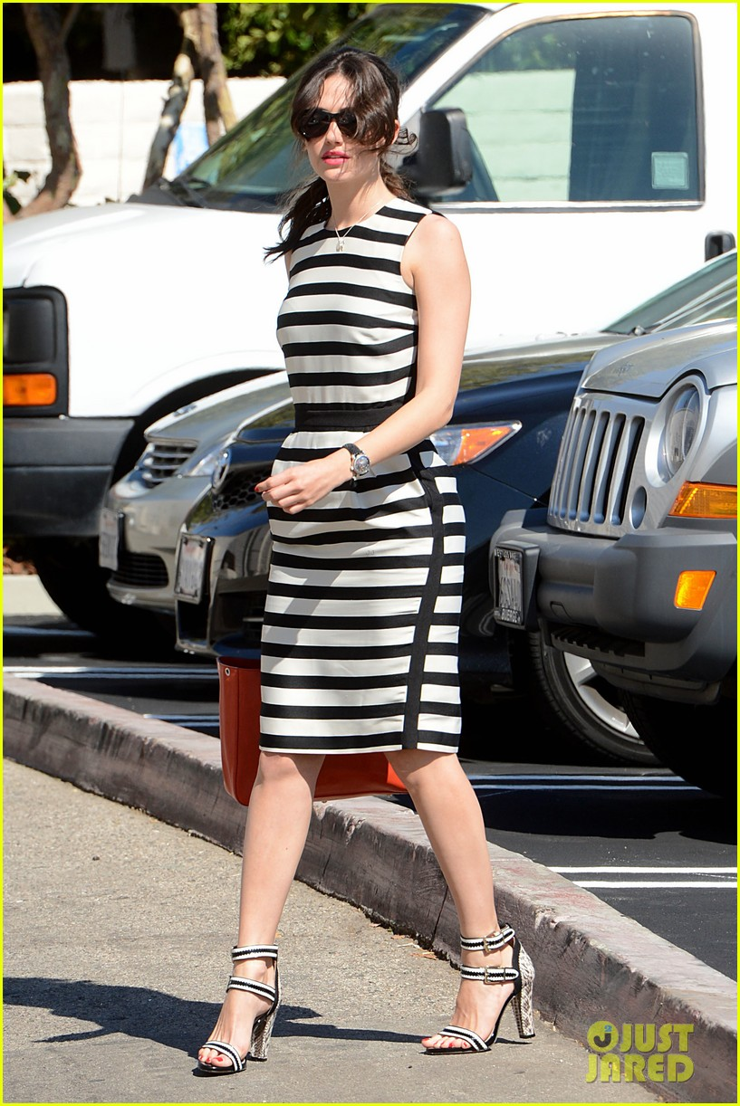 emmy rossum shows her stripes in brentwood 01