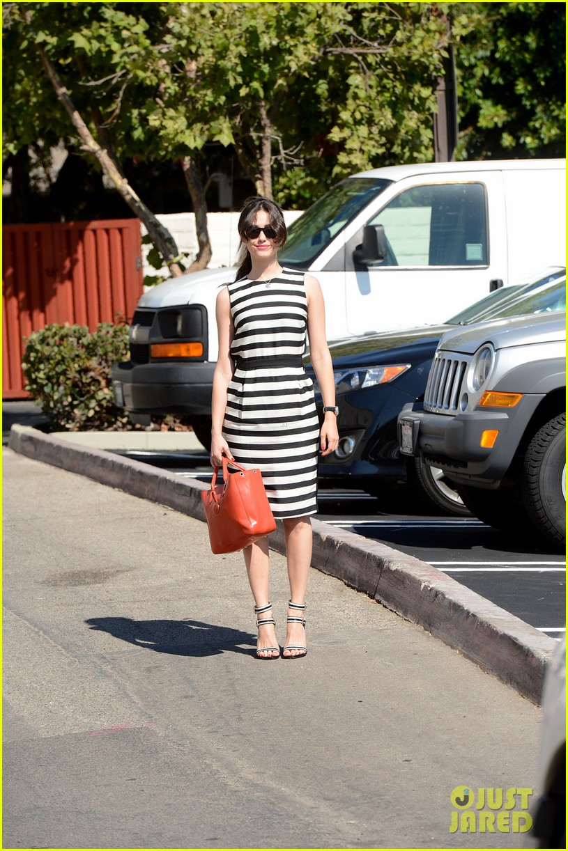 emmy rossum shows her stripes in brentwood 03