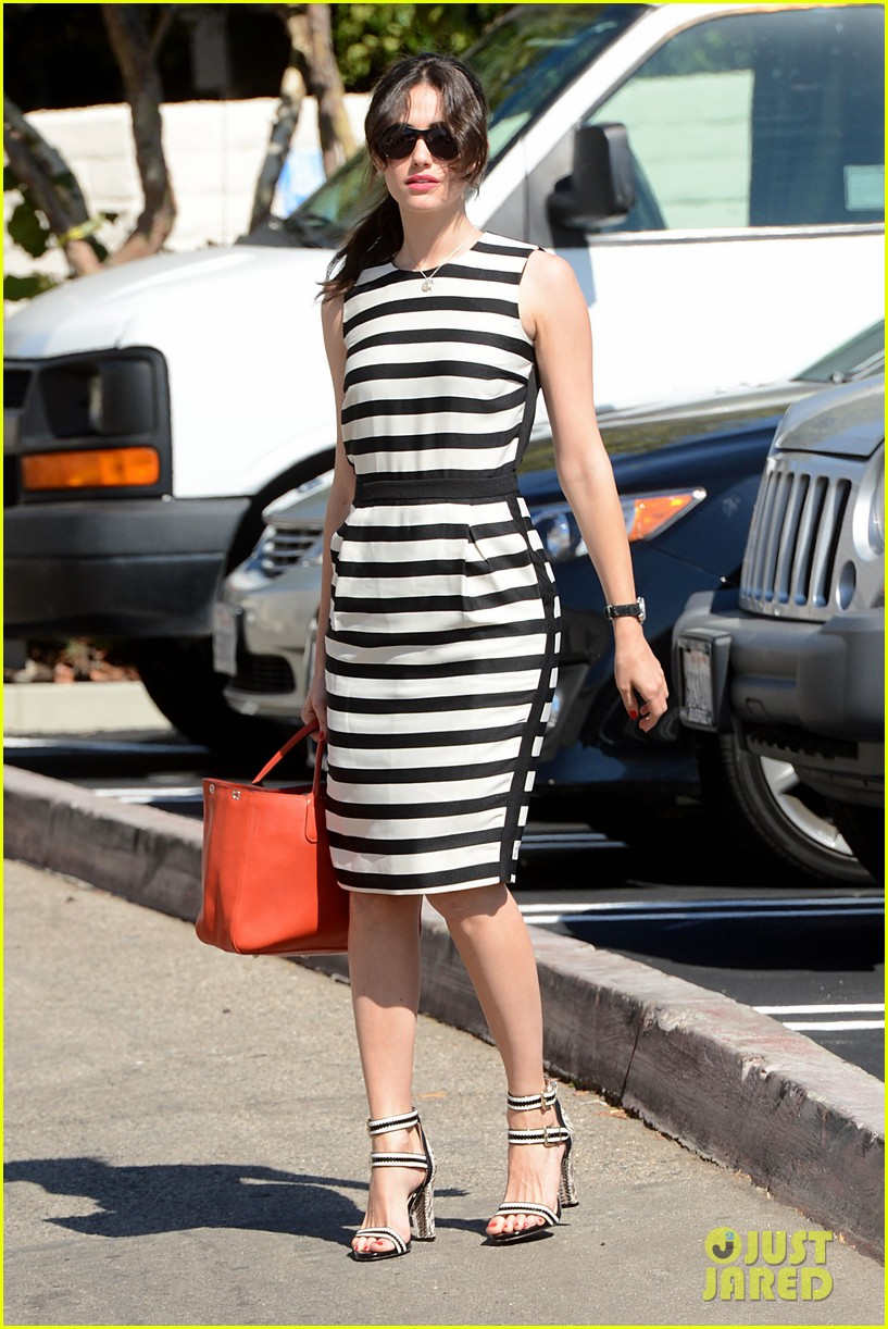 emmy rossum shows her stripes in brentwood 06