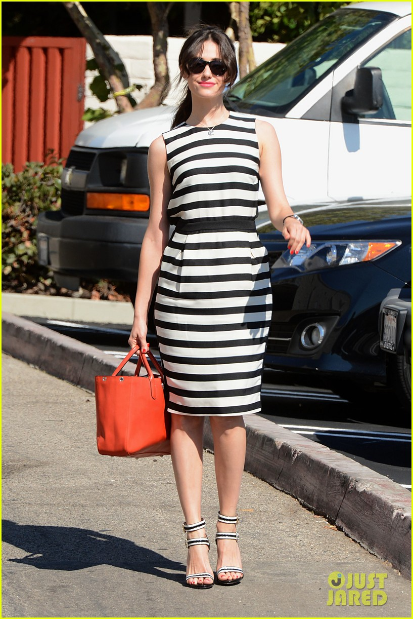 emmy rossum shows her stripes in brentwood 08