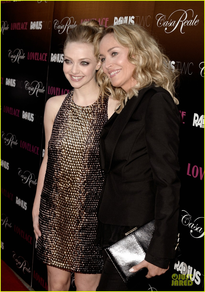 amanda seyfried sharon stone lovelace hollywood premiere 12