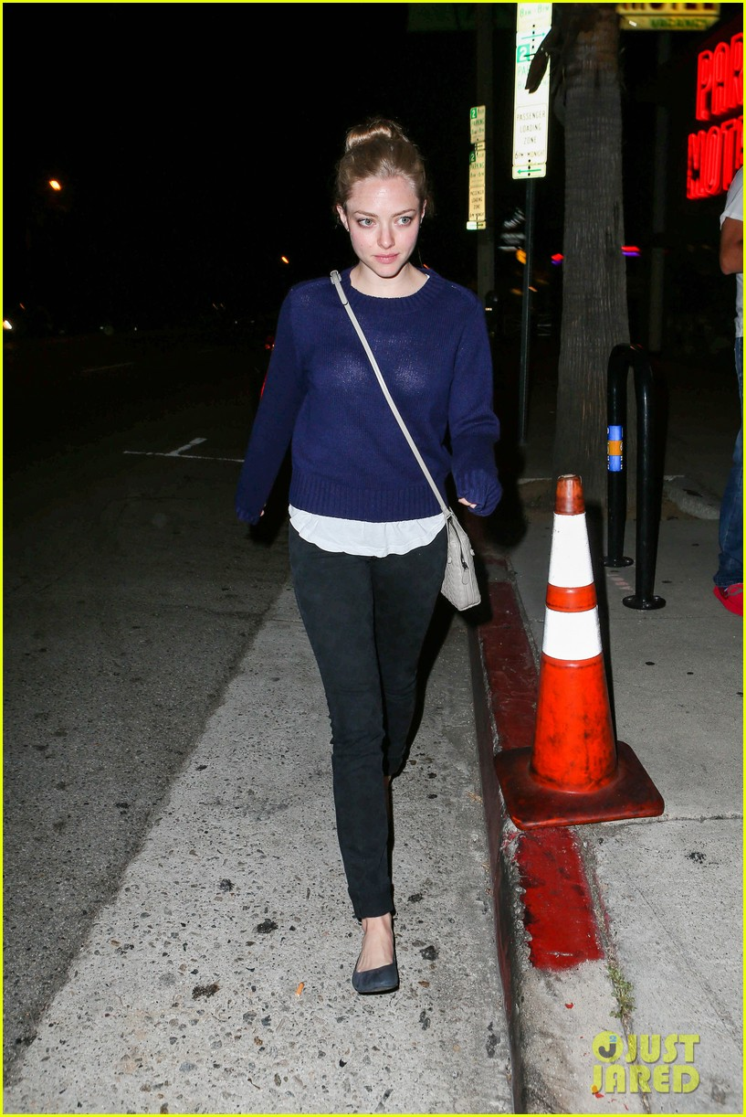 amanda seyfried justin long hang out with finn the dog 312937000