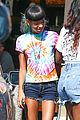 willow smith matches tye dyed hair with tye dyed shirt 11