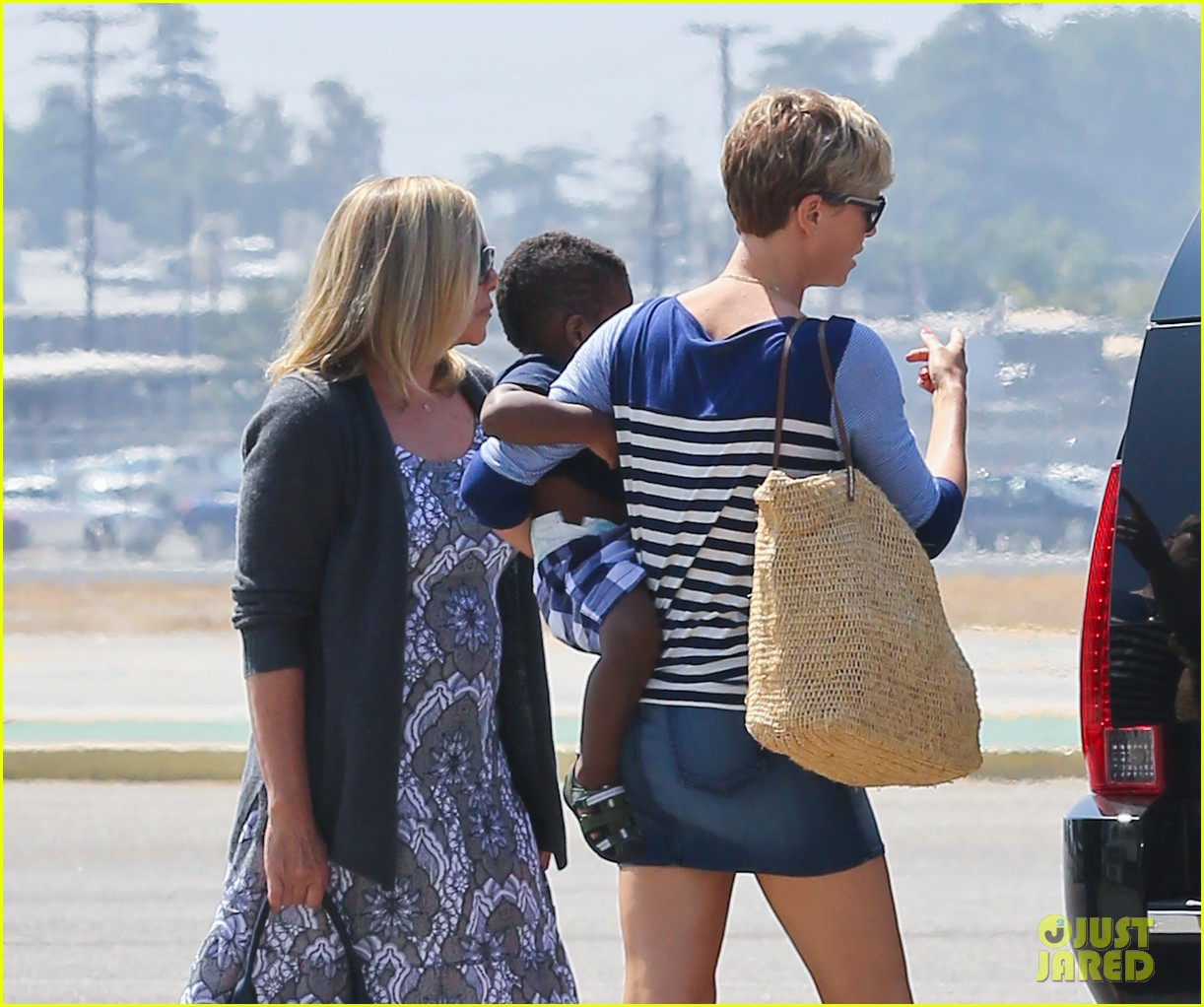charlize theron jackson depart in los angeles together 132924873