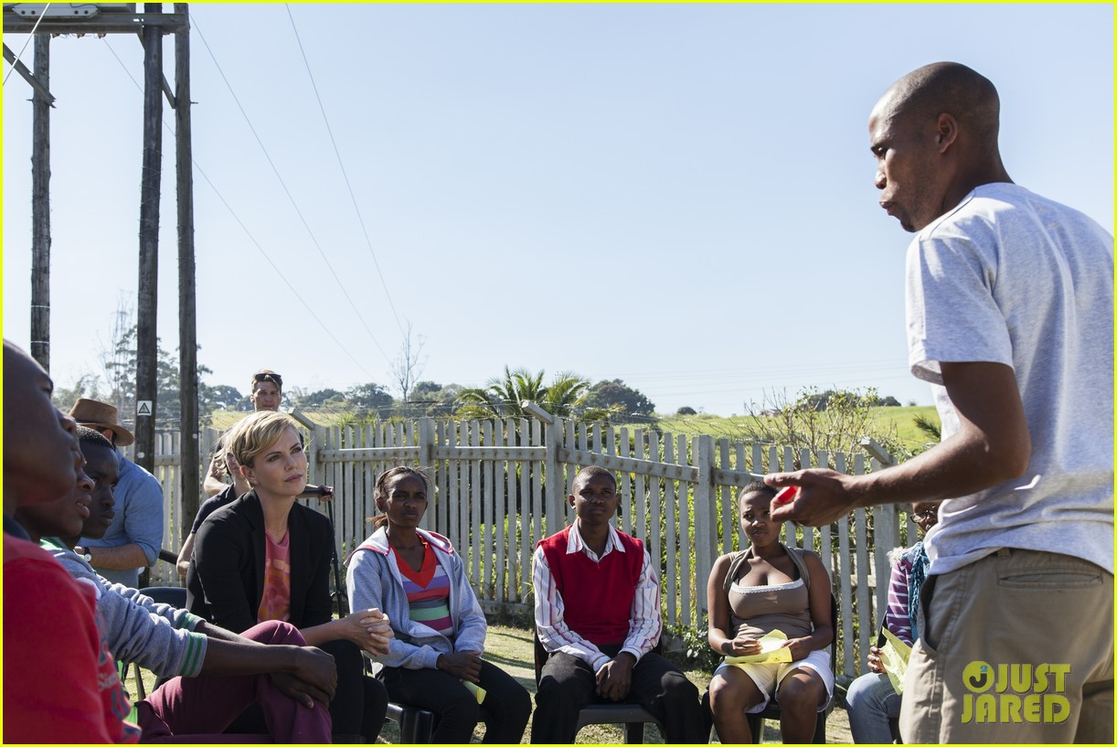 charlize theron visits youth ambassador project in south africa 09
