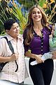sofia vergara carries infant on modern family set 02
