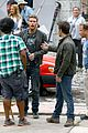 mark wahlberg bloody head wounds on transformers 4 set 03