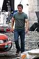 mark wahlberg bloody head wounds on transformers 4 set 11