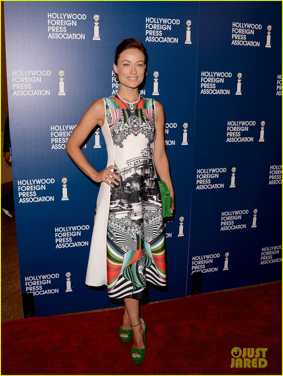 olivia wilde eva longoria hfpa interstellar luncheon 2013 01