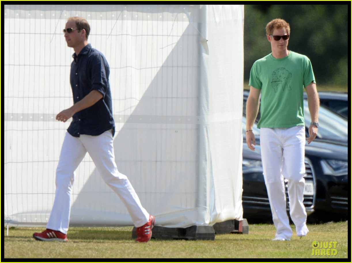 prince william polo with harry after registering george birth 052922731