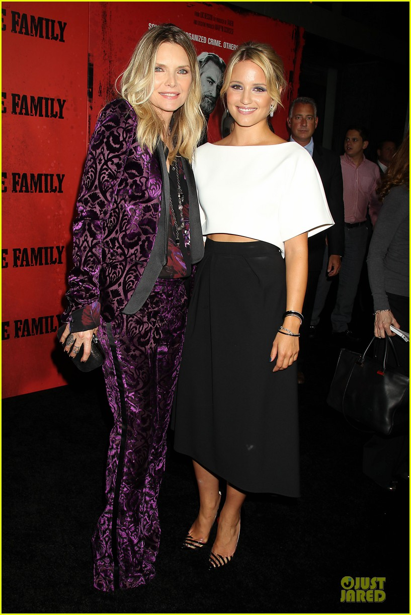 dianna agron michelle pfeiffer the family nyc premiere 03