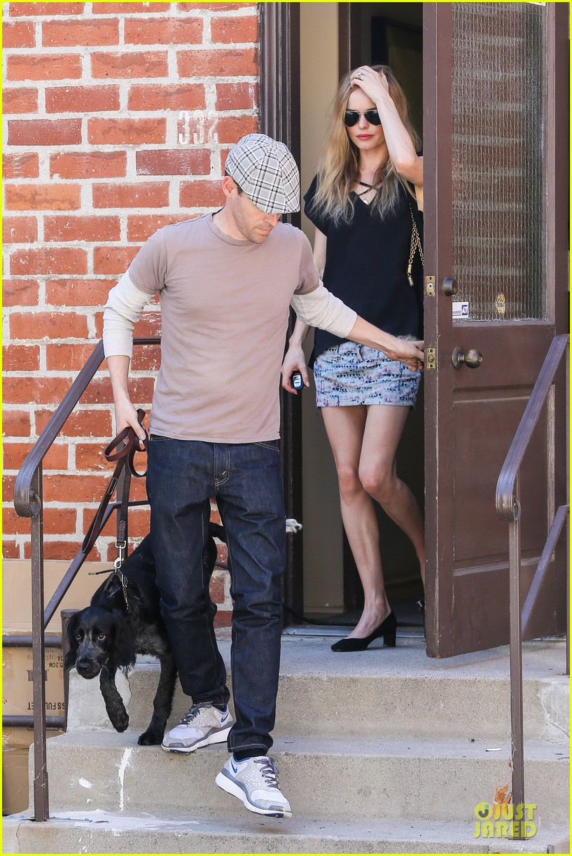 kate bosworth michael polish newlyweds visit studio 092943213