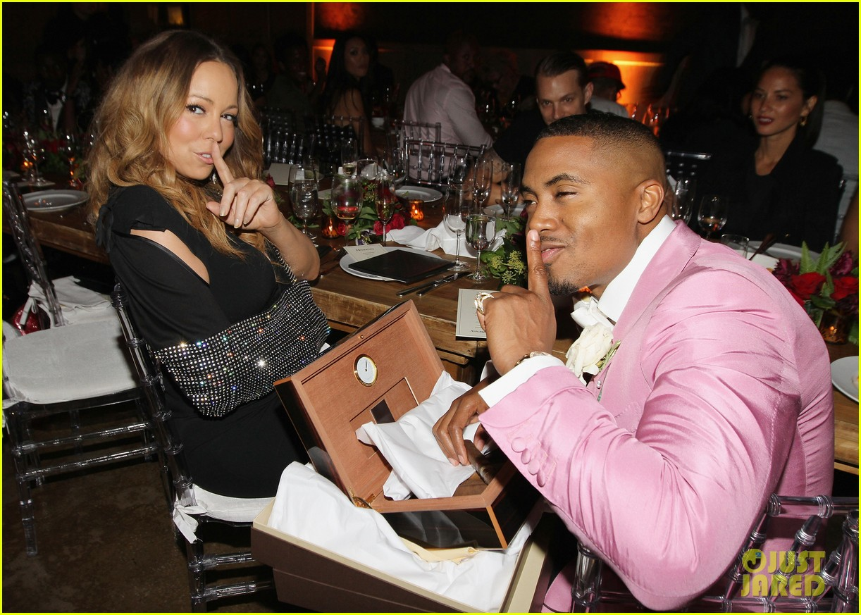 mariah carey olivia munn celebrate nas 40th birthday 042951351