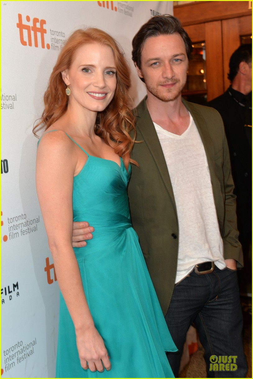jessica chastain james mcavoy disappearance of eleanor rigby tiff premiere 022948475