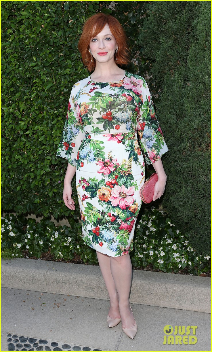 christina hendricks emily deschanel rape foundation annual brunch 012962872