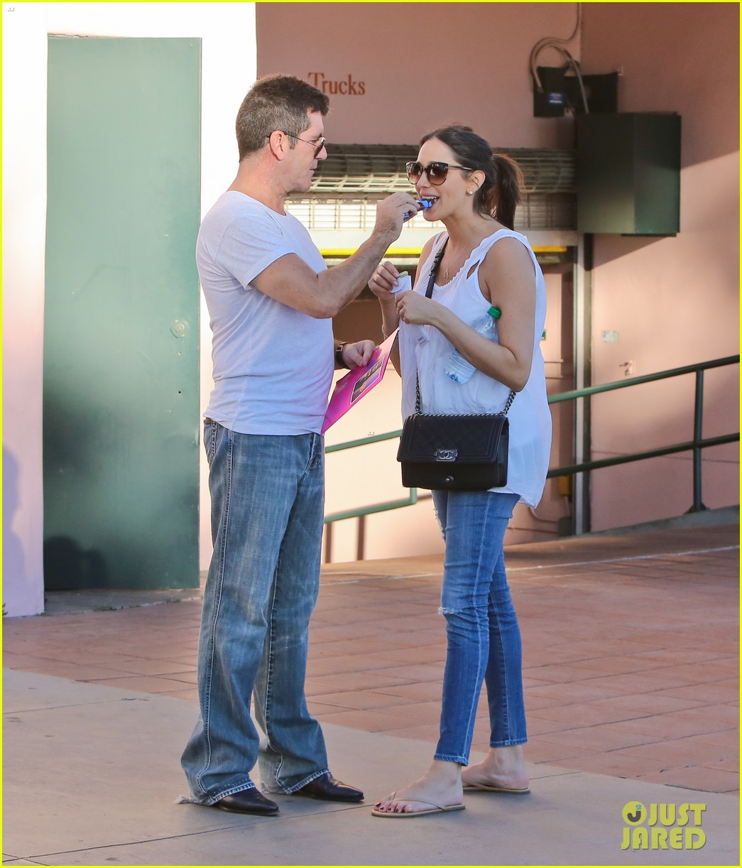 simon cowell lauren silverman weekend lovers 122963056