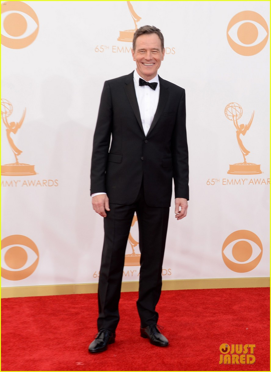 bryan cranston aaron paul emmys 2013 red carpet 032958115