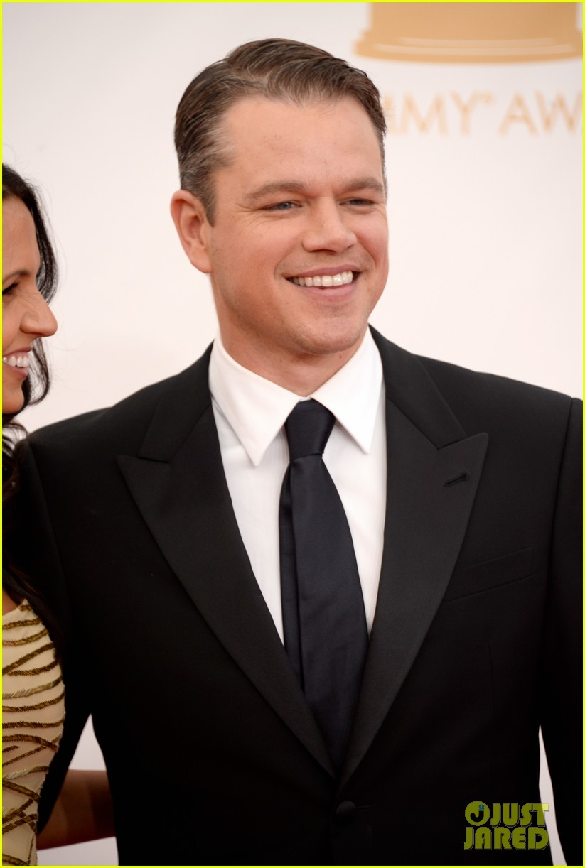 mattdamon michael douglas emmy awards red carpet 02