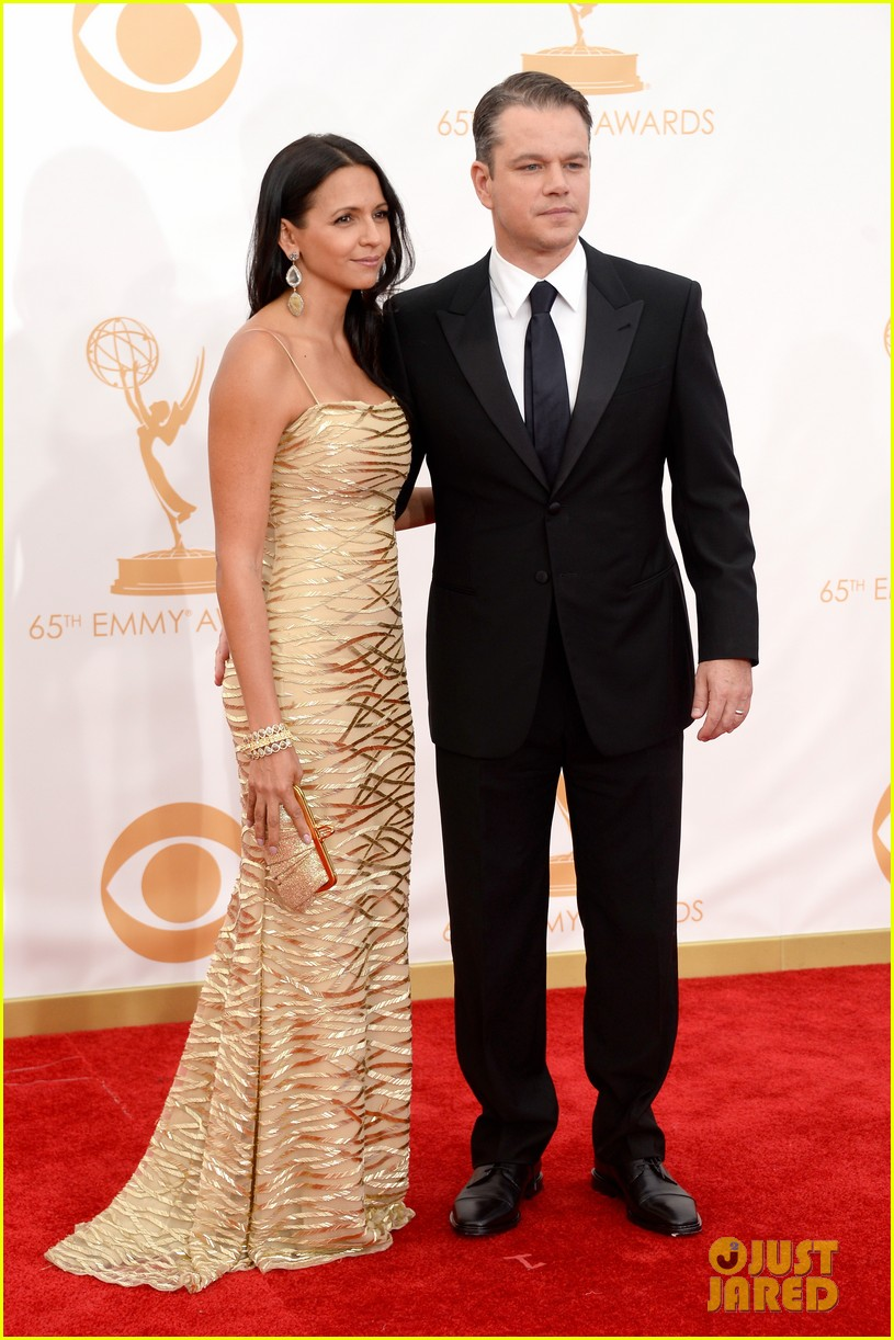 mattdamon michael douglas emmy awards red carpet 05