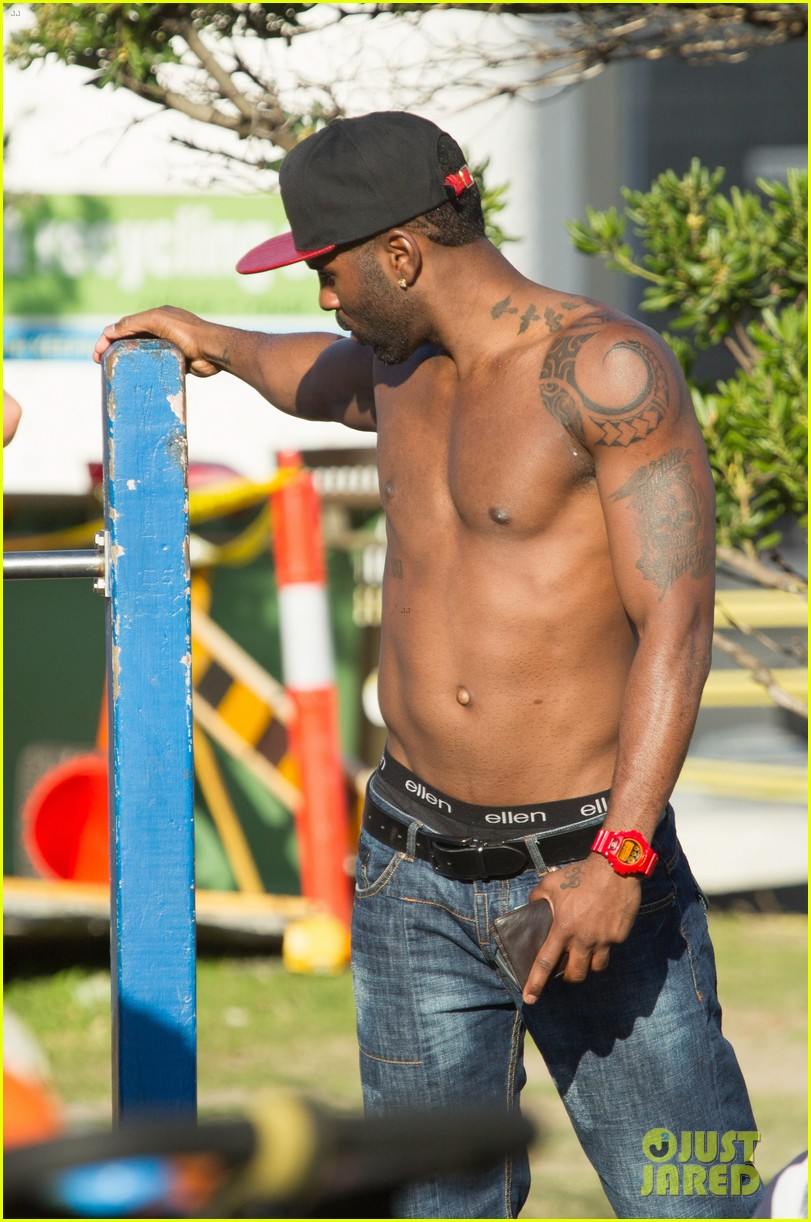 jason derulo shirtless workout in australia 18