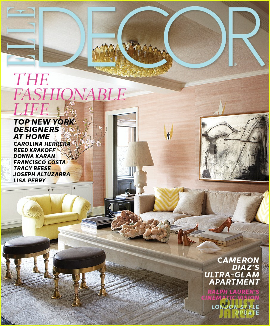 cameron diaz shows off nyc apartment for elle decor 012943574