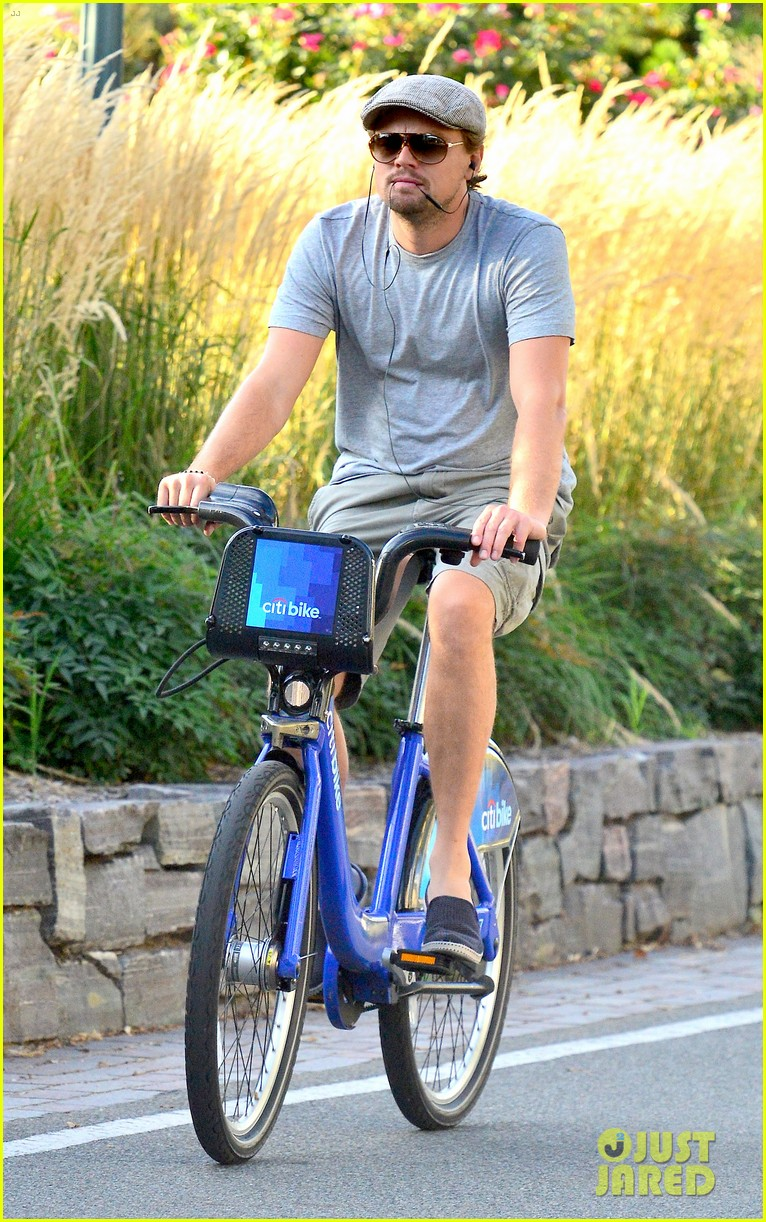 leonardo dicaprio citibike ride after us open date 08