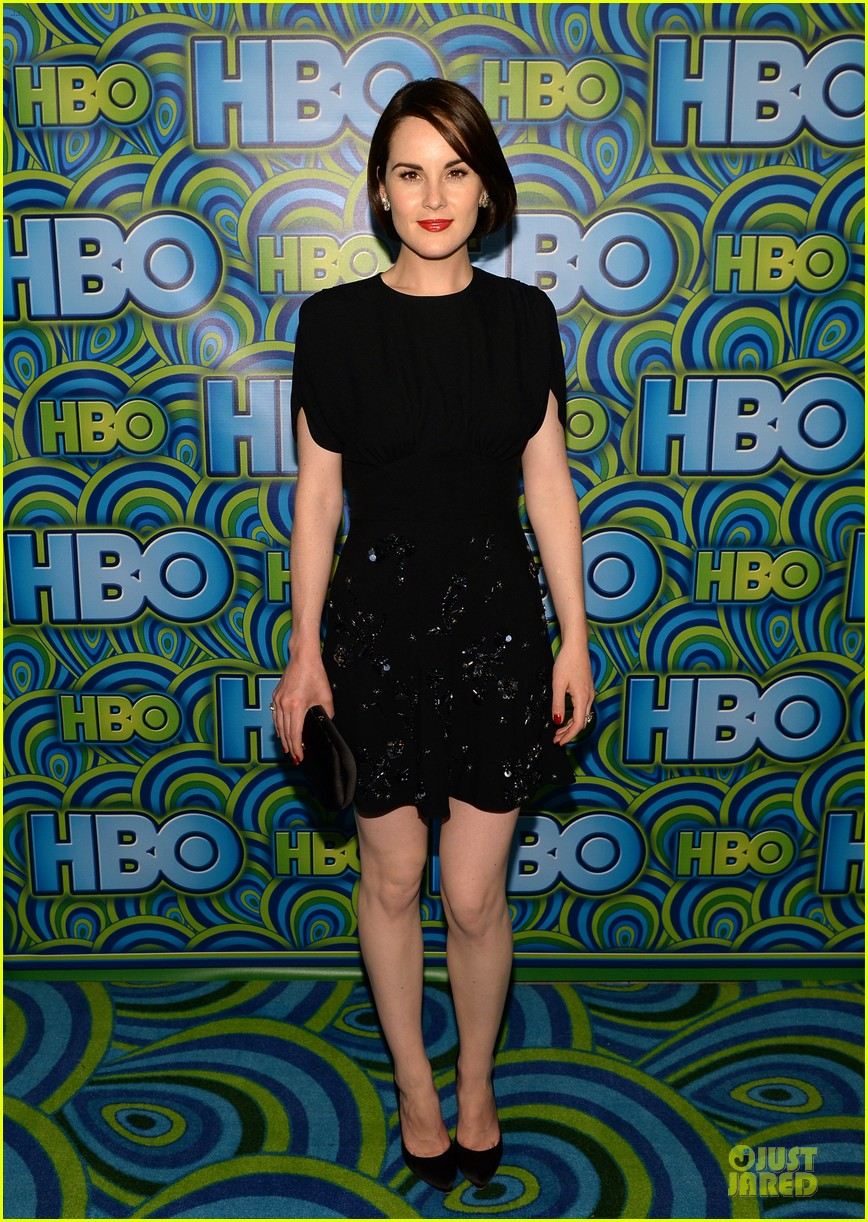michelle dockery switches it up for hbo emmys after party 012958728