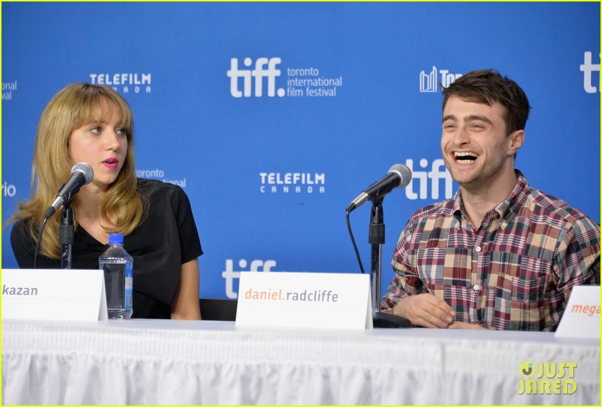 daniel radcliffe zoe kazan the f word portraits panel tiff 15