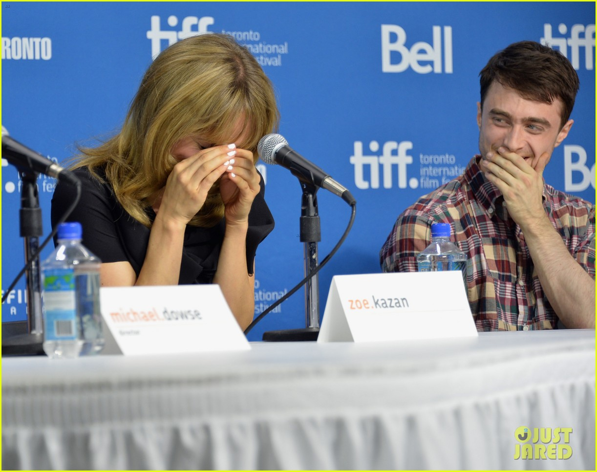 daniel radcliffe zoe kazan the f word portraits panel tiff 202947204