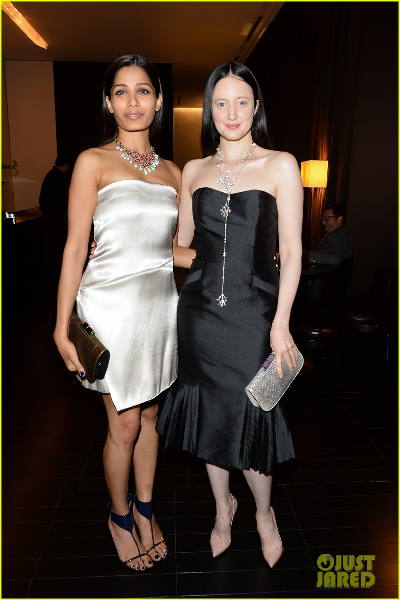 freida pinto rosario dawson bulgari at milan fashion week 032957610