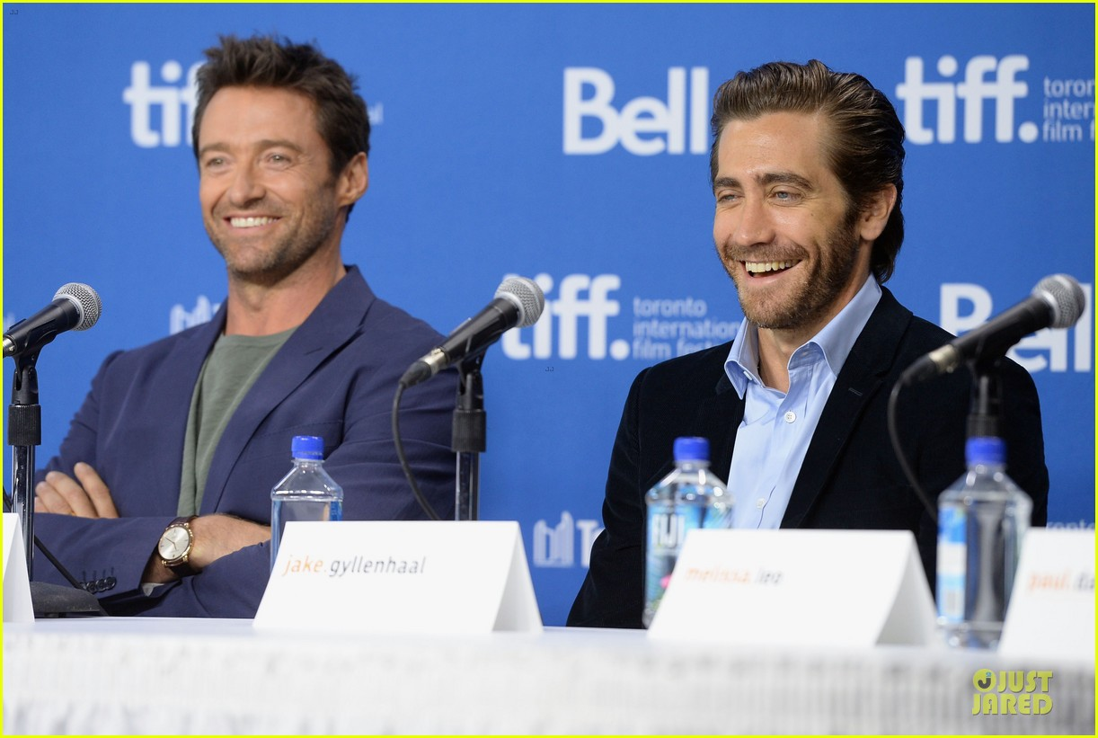 jake gyllenhaal hugh jackman prisoners tiff press conference 16