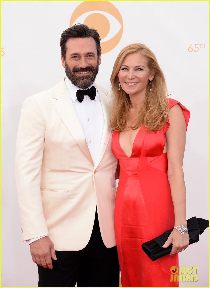 jon hamm january jones emmys 2013 red carpet 02