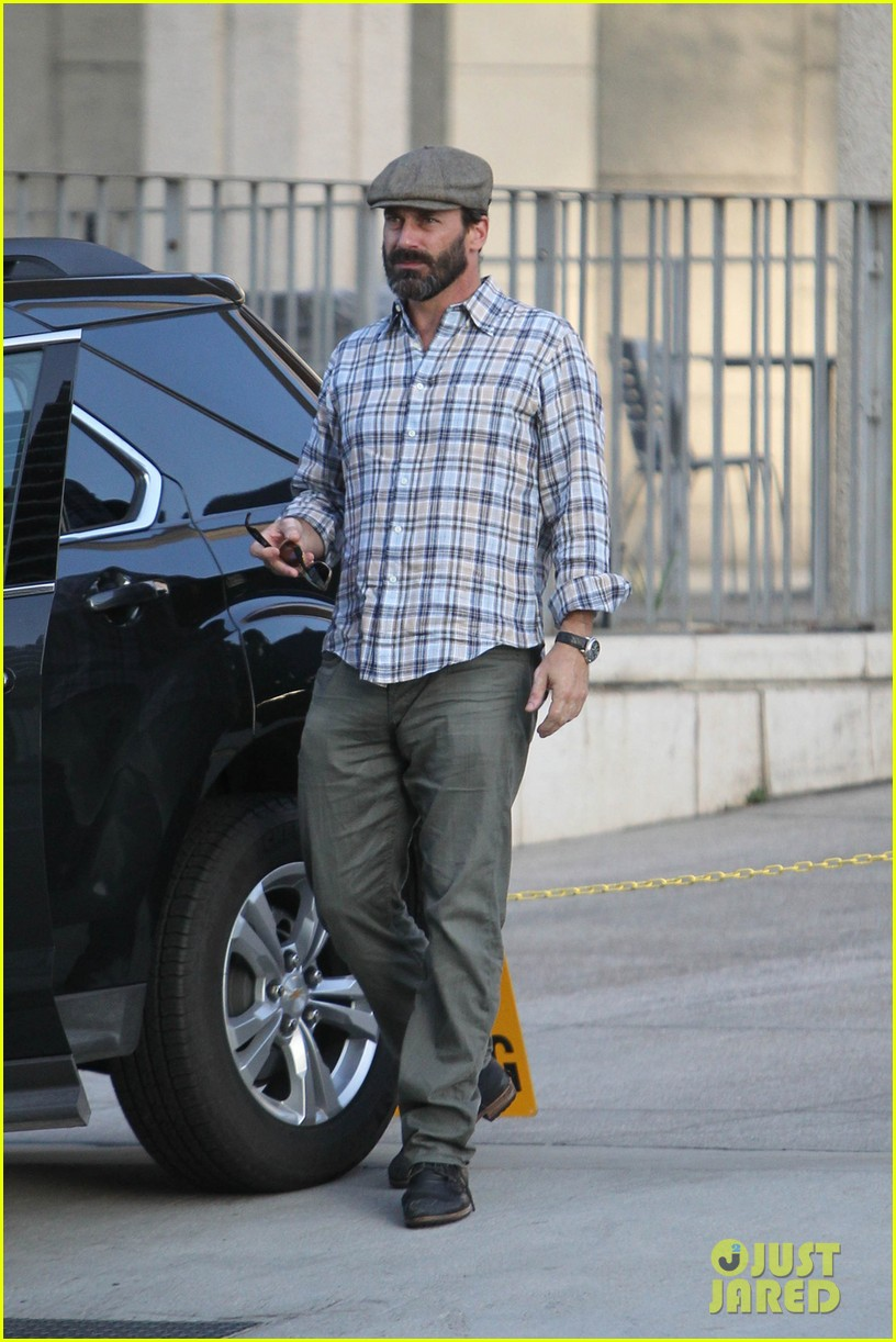 jon hamm shows off scruffy after mad men final season announced 042956177