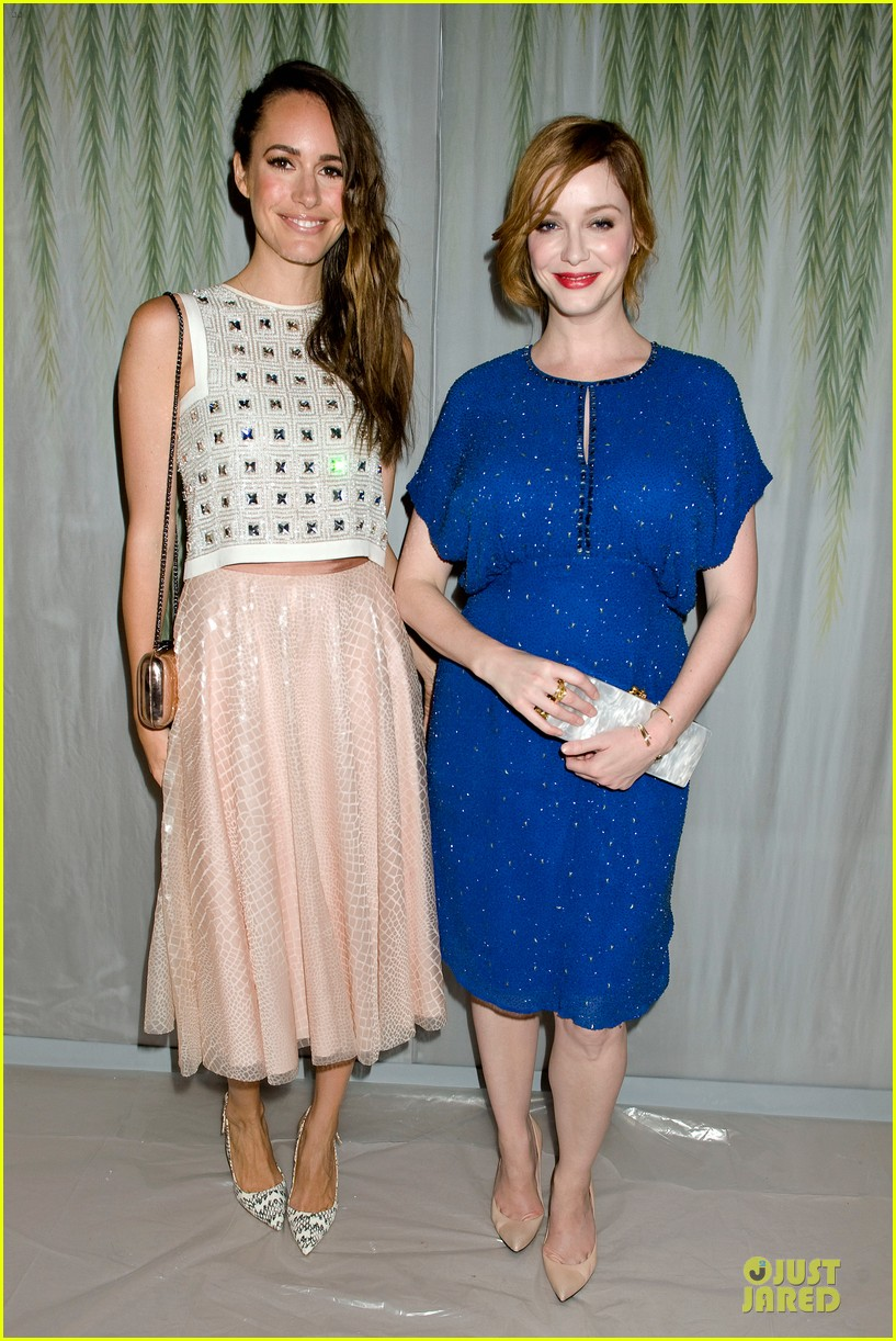 christina hendricks louise roe jenny packham fashion show 06